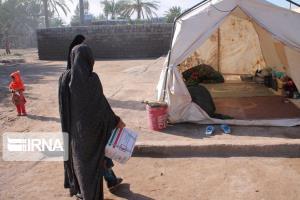 ۲۳ آسیب دیده سیل سرباز در چادر اسکان داده شدند