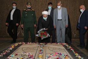 بازدید رئیس قوه قضاییه از یادمان شهدای دفاع مقدس اهواز