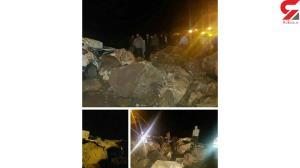 عکس عجیب از ریزش سنگ های بزرگ در جاده چالوس