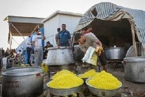 کمکرسانی مواکب اربعین به زلزلهزدگان اندیکا