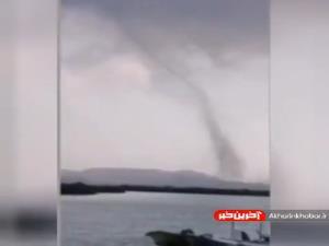 گردباد عظیم الجثه و ترسناک در جزیره قشم